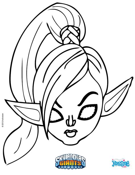 ninjini skylanders free colouring pages