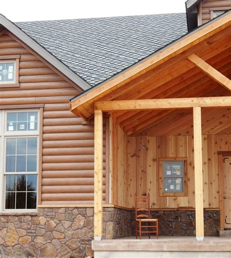Cabin Siding Ideas - 17 best images about log home ideas on log