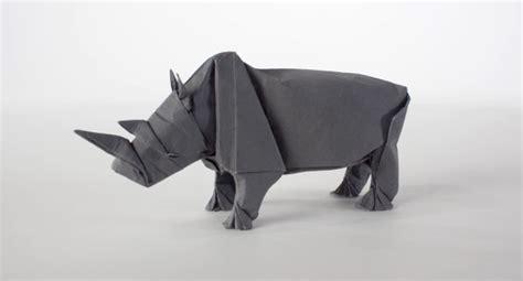 Origami Rhino - rhino origami feel desain