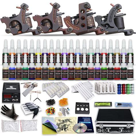 tattoo kits dhgate high quality complete tattoo kit 4 top machine gun ink