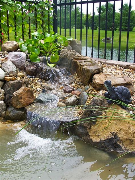 small backyard waterfall and pond landscaping outdoor