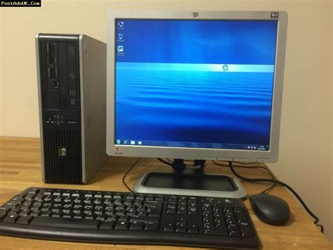 Hp Desk Computers Fast Complete Hp Business Desktop Pc Dual 5 2 Ghz 4gb Ram 320 Gb Windows 7 Monitor