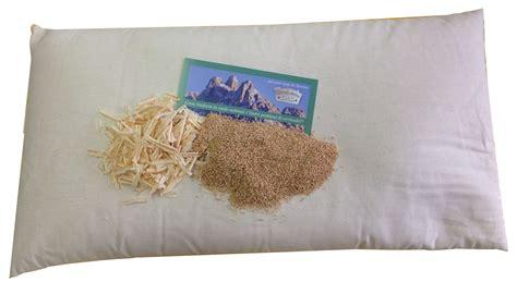 cuscini di miglio cuscino con miglio bio e cirmolo 80x40cm cuscini