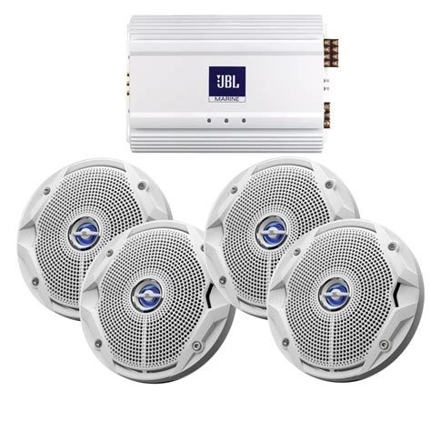 jbl boat speakers get 2018 s best deal on jbl ms6520 x2 ma6004 marine stereo