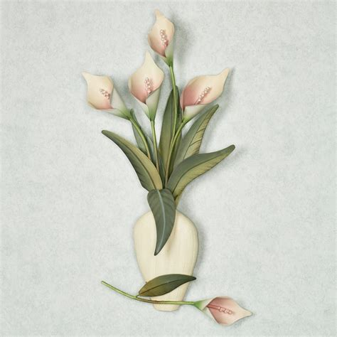 Calla Lilies In A Vase calla vase wall sculpture