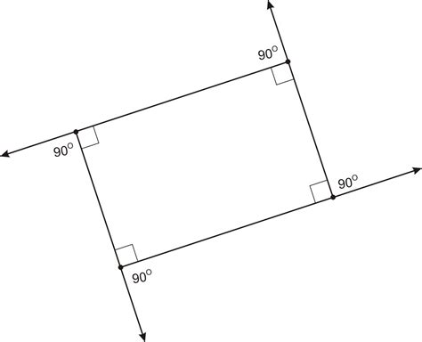 Interior Angles Of Rectangle find the sum of the four exterior angles in a rectangle