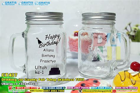 Souvenir Gelas Drink Jar Cetak Nama Kemas Box jar formia exclusive souvenir pernikahan