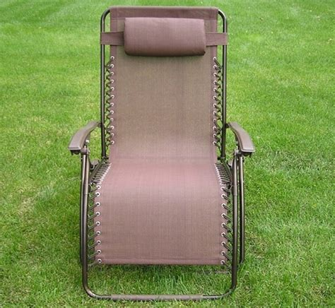 wide lounge chair delux wide zero gravity lawn chair brown patio recliner