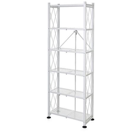 Origami 3 Tier Collapsible Shelf - origami folding 6 tier book shelf white 804721 qvcuk
