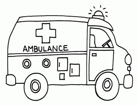 Transportation Coloring Pages Getcoloringpages Com Ambulance Pictures To Colour