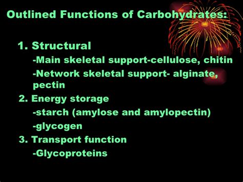 7 functions of carbohydrates chapter 7 carbohydrates