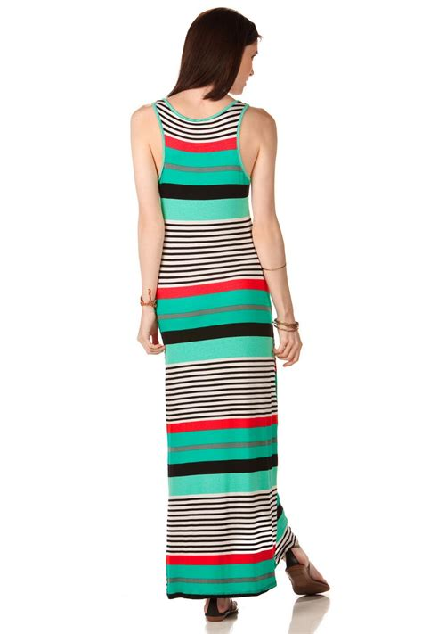 Maxi Stripe Fransisca huntington striped maxi dress s
