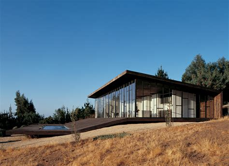 Modern Glass House Decked Architecture Wooden Home Design Wrap Around Deck House In Chile Is