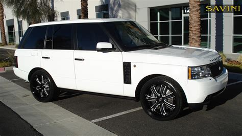 land rover white black rims range rover savini wheels
