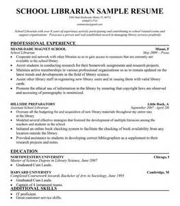 Sle Resume School Librarian Librarian Resume Sle 28 Images Sle Of Resume For
