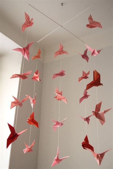 Origami Flower Mobile - isyyspakkaus diy origami mobile crafty