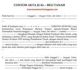 surat perjanjian jual beli tanah newhairstylesformen2014