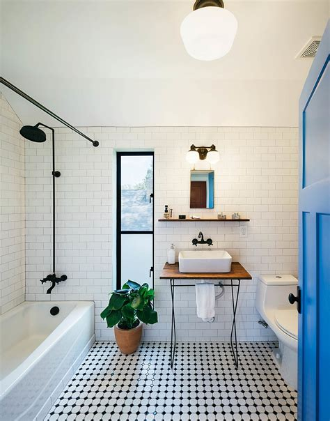 modern black and white bathroom tile designs 10 fabulous bathrooms with industrial style