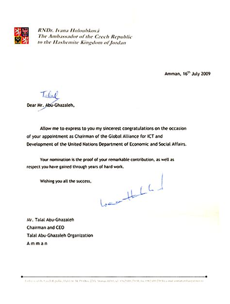 Appointment Letter Of Ceo