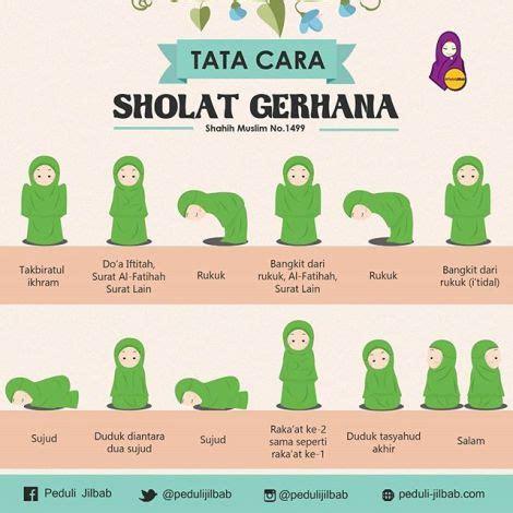 Nurulhayatku Tata Cara Shalat Gerhana Sama Seperti Shalat | ilustrasi tata cara shalat gerhana by peduli jilbab