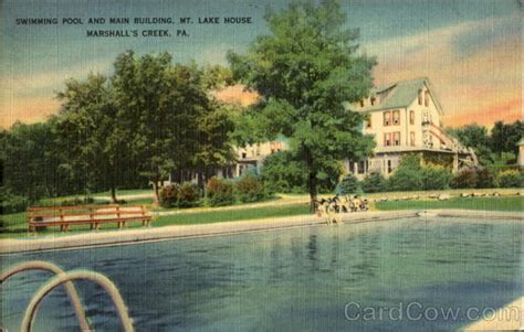 Marshalls E Gift Card - swimming pool and main building mt lake house marshalls creek pa