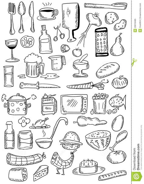 doodle food free doodle food royalty free stock photo image 29918485
