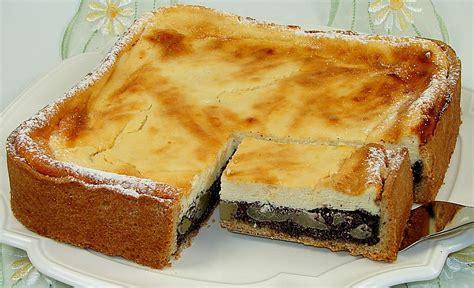 birnen quark kuchen topfen quark mohn kuchen mit birnen rezept mit bild