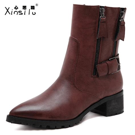 wholesale genuine leather fashion boots thick heels