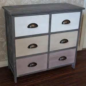 wooden multi coloured 6 drawer storage unit melody maison 174