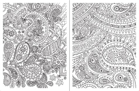 coloring books for relaxation paisley design coloring pages az coloring pages