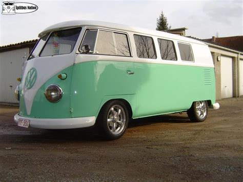green volkswagen van great colours on this vw t1 hippie van stuff pinterest