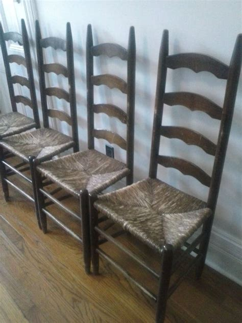 Antique Ladder Back Chairs With Seats by Antique Ladder Back Chairs W Seatsset Of 4 By
