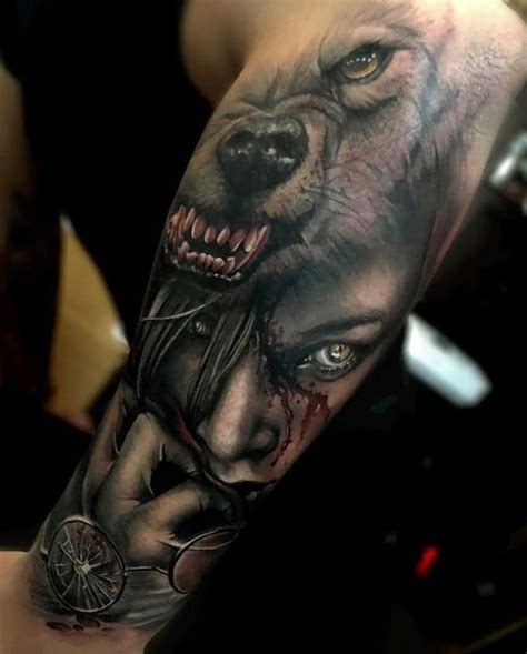 wolf face tattoo wolf tattoos wolf