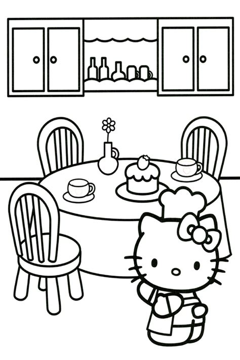 hello kitty baking coloring pages hello kitty coloring pages overview with a lot of kitties