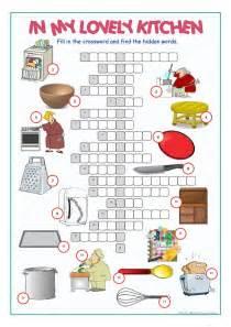 Small Home Appliances Crossword Kitchen Crossword Puzzle Worksheet Free Esl Printable