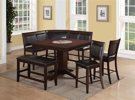 7 piece dining set with bench crown mark harrison 7 piece counter height dining set with