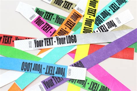 How To Make Paper Wristbands - wristband about tyvek personalised wristbands