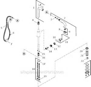 kohler kitchen faucet parts diagram kohler k 7506 parts list and diagram ereplacementparts