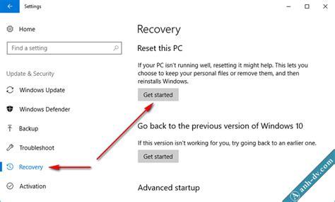reset samsung khong mat du lieu hướng dẫn c 225 ch reset windows 10 kh 244 ng mất dữ liệu reset