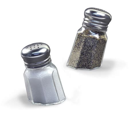 salt and pepper shakers sunk in salt and pepper shakers the green head