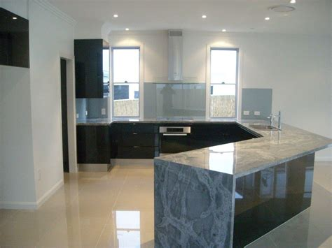 waterfall stone bench tops kitchen designs brisbane southside gold coast australia