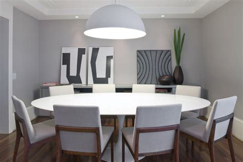 Dining Room Modern Furniture Interior Design Small Stylish Dining Room Interior Design With Big Tulip Table White