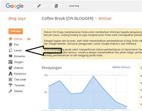 membuat halaman html cara membuat halaman statis di blogger coffee break