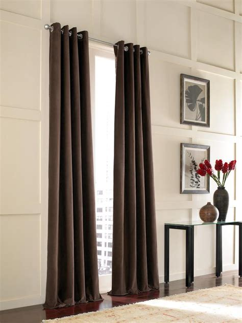 ceiling to floor curtains living room window treatments living room and dining