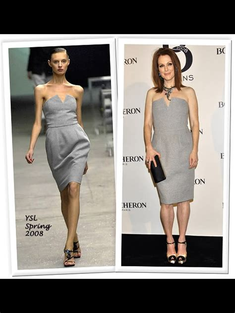 Who Wore It Better Yves Laurent Strapless Grey Dress by Louise Yves Laurent Light Grey Wool