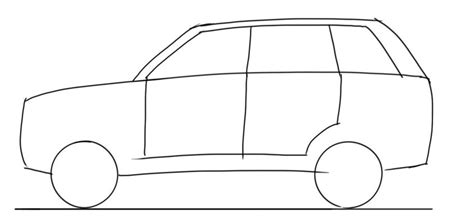 car drawing tutorial suv side view junior car designer