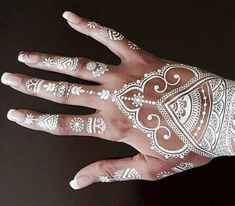 black and white henna tattoo designs 11 cool s that anyone can rock white henna
