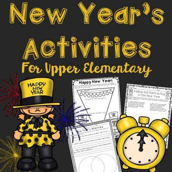 new year activities elementary new year s literacy and math activities for elementary