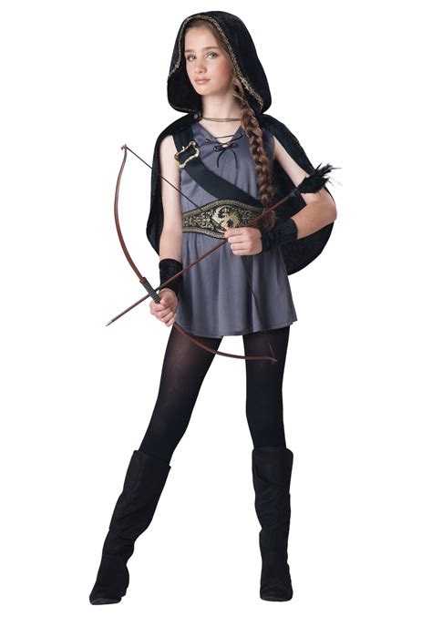 halloween costumes girls girls hooded huntress costume