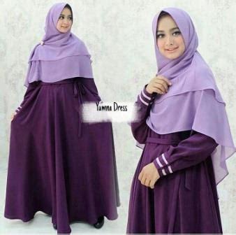 Gamis Fataya Syar I Purple gamis busui modis bahan baloteli wa 0821 1223 5665